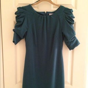 Jessica Simpson teal dress with fun sleeves